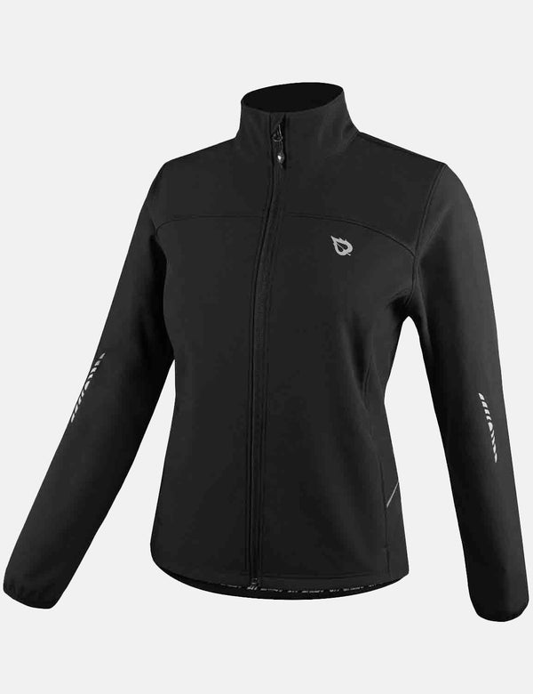 Baleaf Womens Wind- & Waterproof Thermal Long Sleeved Cycling Jacket Black Side