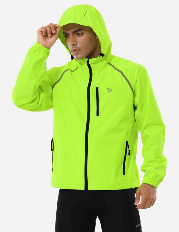 Baleaf Mnes Fluorescent Water Resistance Pocketed Windbreaker Track Jacket Fluorescent Yellow Side