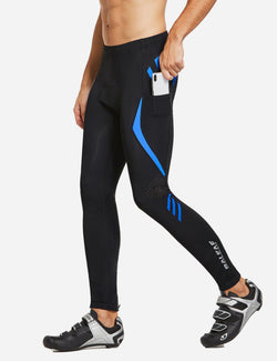 Baleaf Mens Outdoor Multifunctional Workout Compression Tights Blue side