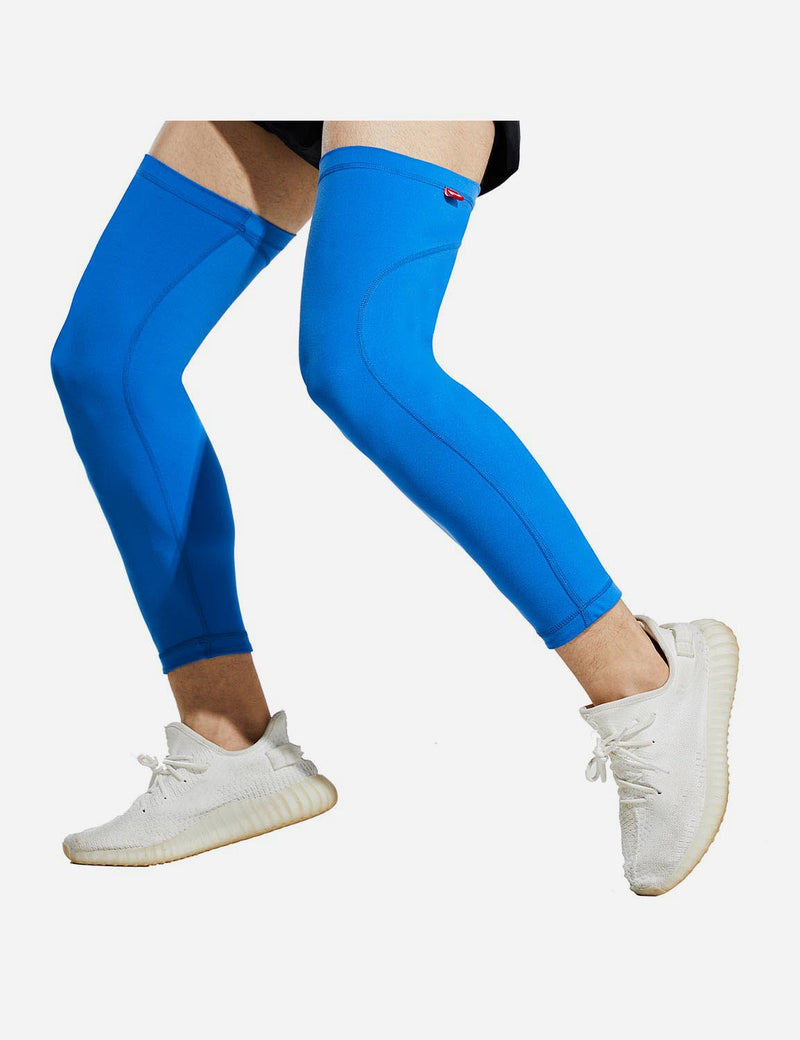Baleaf Mens UPF 50+ Multi Functional Compression Leg Sleeves Blue Front