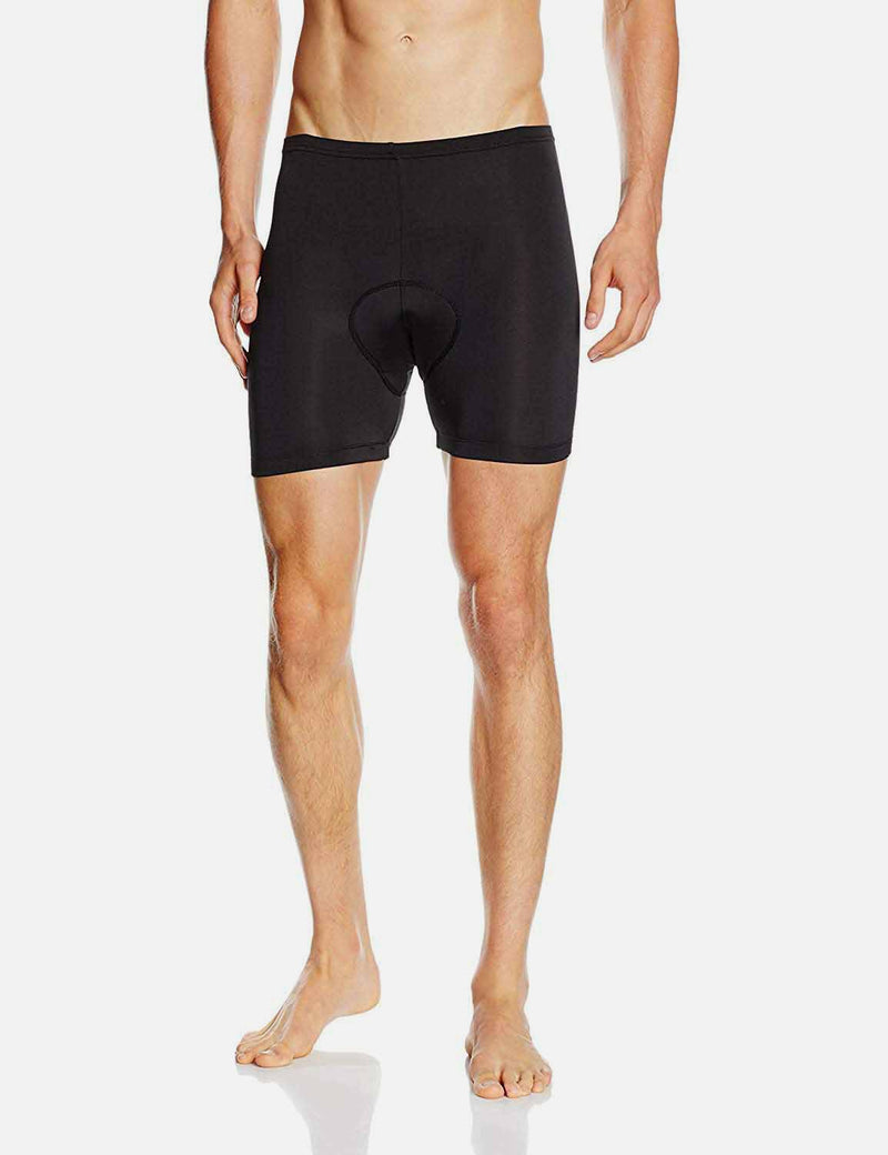 Baleaf Mens 3D Chamois Padded Compression Mountain Bike Shorts Black 2 pacl main back front