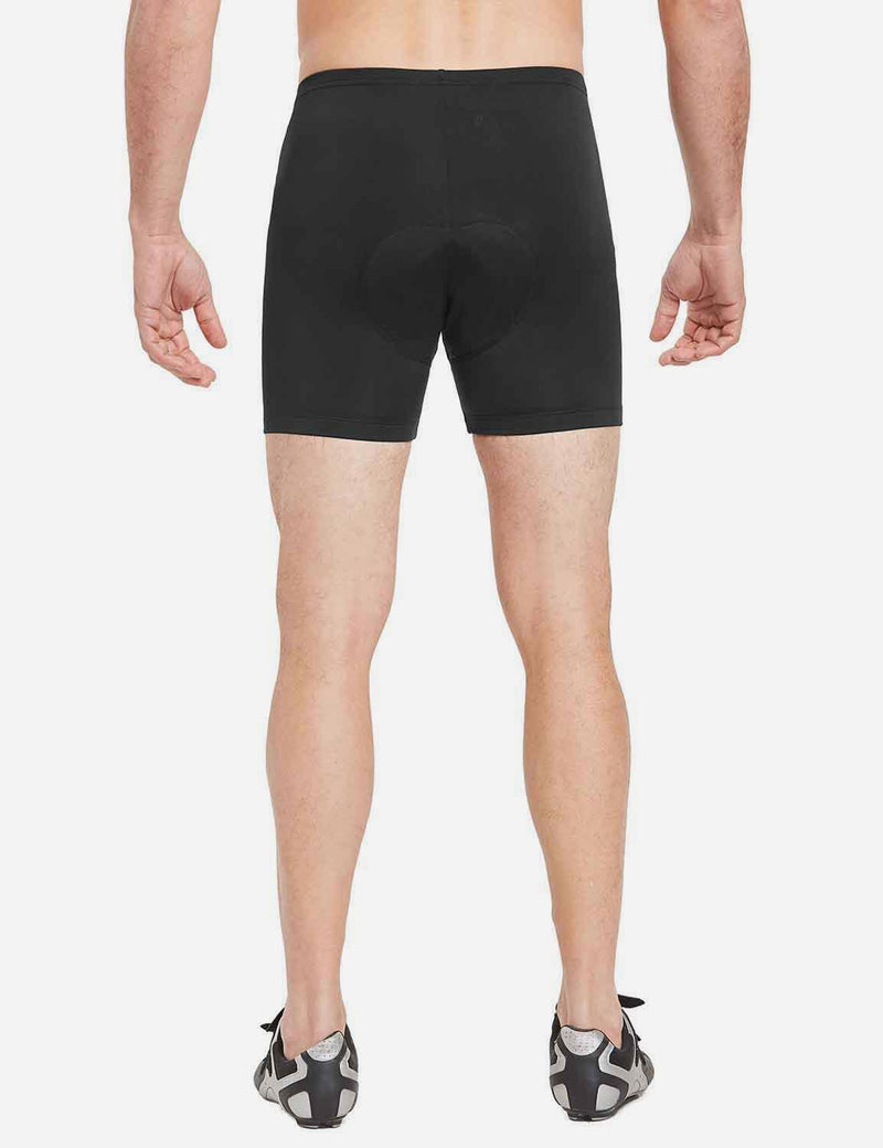 Baleaf Mens 3D Chamois Padded Compression Mountain Bike Shorts Black back