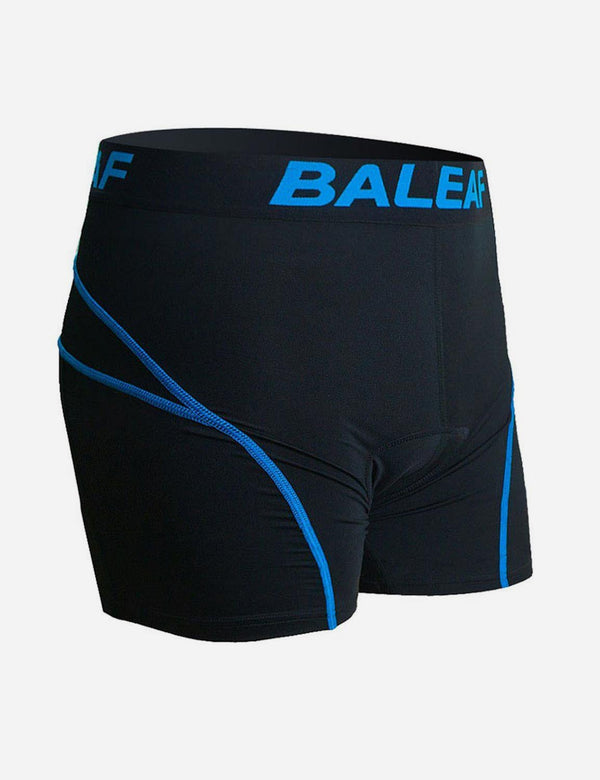 Baleaf Men 3D Padded Mountain Bike Compression Underwear blue side
