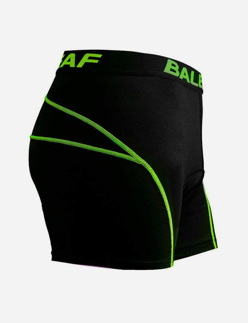 Baleaf Men 3D Padded Mountain Bike Compression Underwear green side
