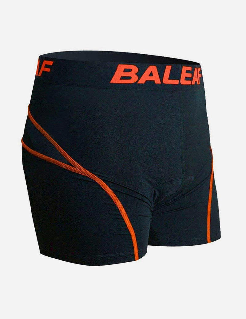 Baleaf Men 3D Padded Mountain Bike Compression Underwear orange side