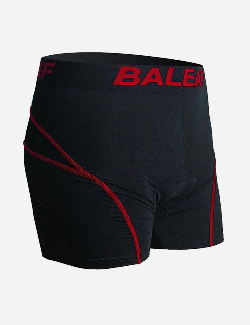 Baleaf Men 3D Padded Mountain Bike Compression Underwear red side