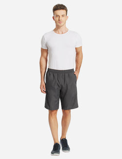 Baleaf Men Basic Zipper Pocketed Bike Shorts grey front