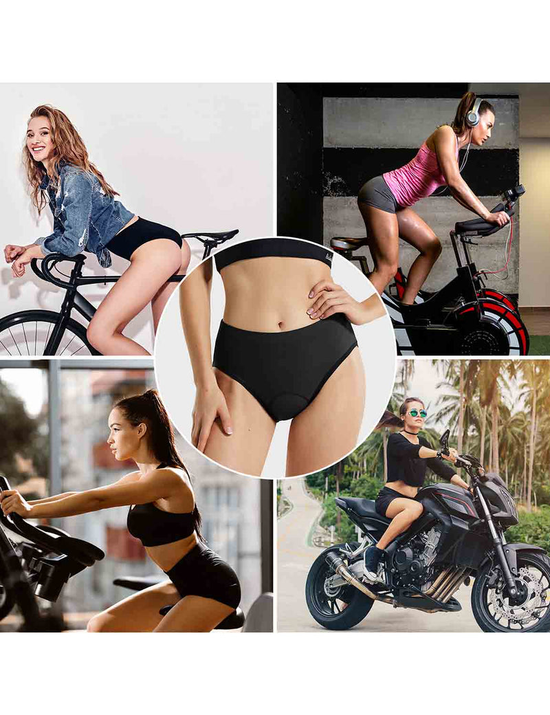 Baleaf Womens 3D Chamois Padded Female Ergonomic Cycling Underwear Black occasions