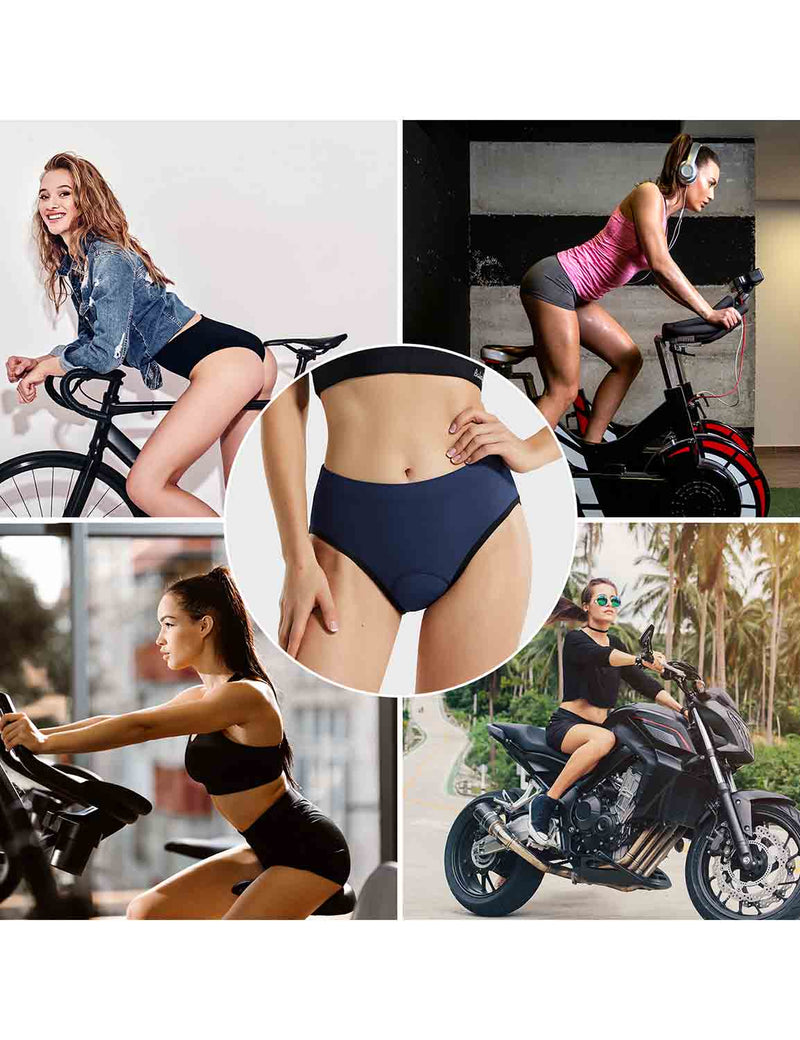 Baleaf Womens 3D Chamois Padded Female Ergonomic Cycling Underwear Blue occasions