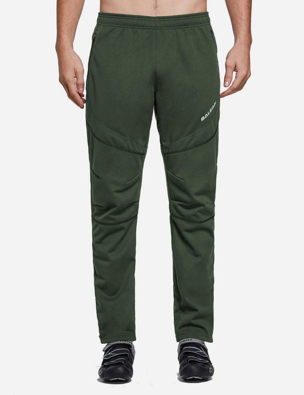 Baleaf Mens Fleece Comfy Loose Fit Casual Weekend Sweatpants Joggers Green Front