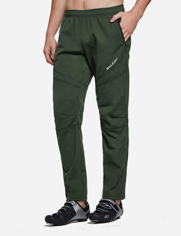 Baleaf Mens Fleece Comfy Loose Fit Casual Weekend Sweatpants Joggers Green Side