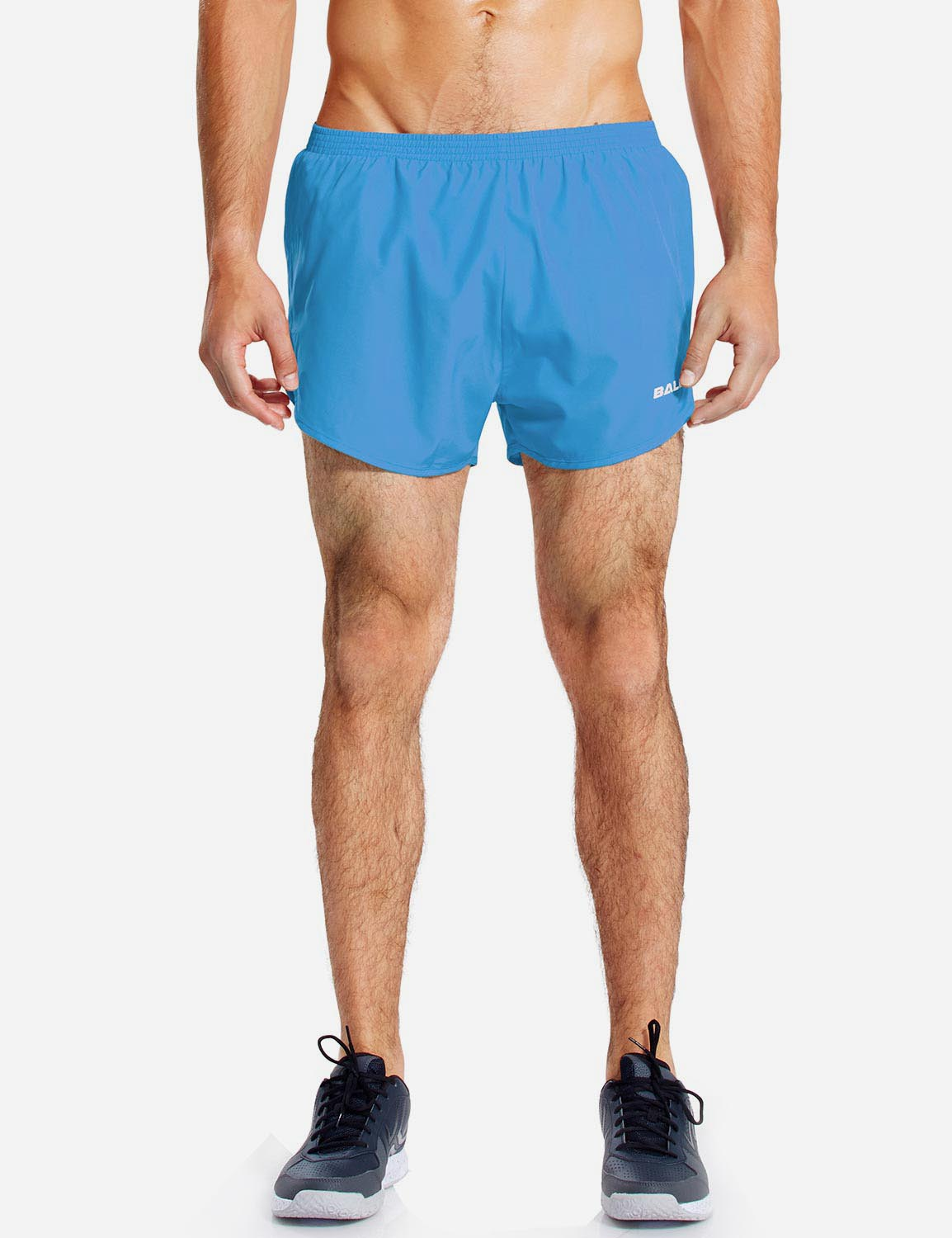 Baleaf Mens 3'' Split-Leg Basic Running Shorts light blue front