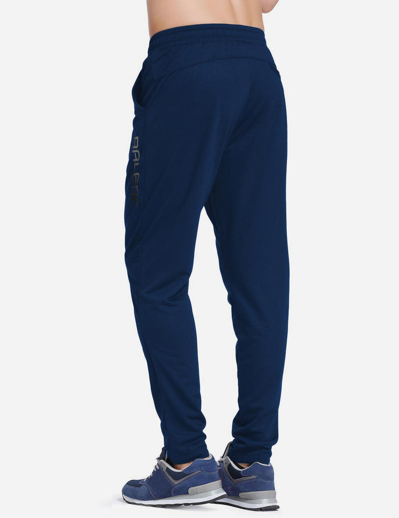 Baleaf mens Tapered & Drawcord Comfy Casual & Weekend Joggers Navy front