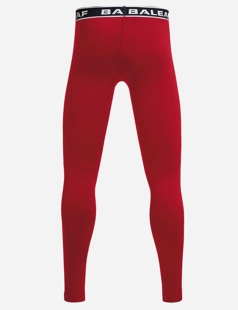 Baleaf Boy's Basic Compression Tights red back