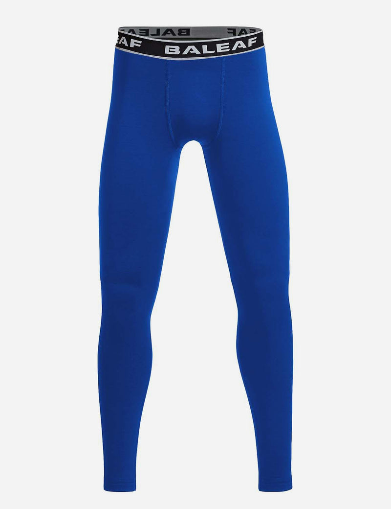 Baleaf Boys Basic Compression Tights royal blue front