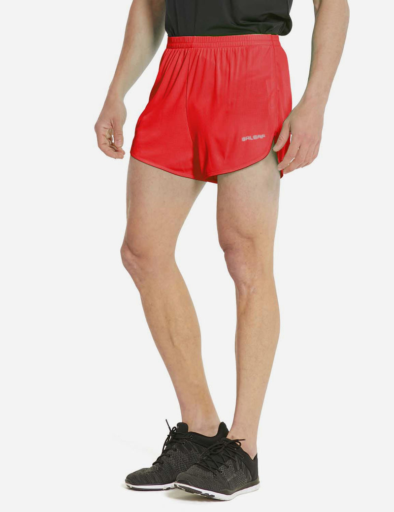 baleaf mens Polyester Split-leg Lined Running Shorts purple side