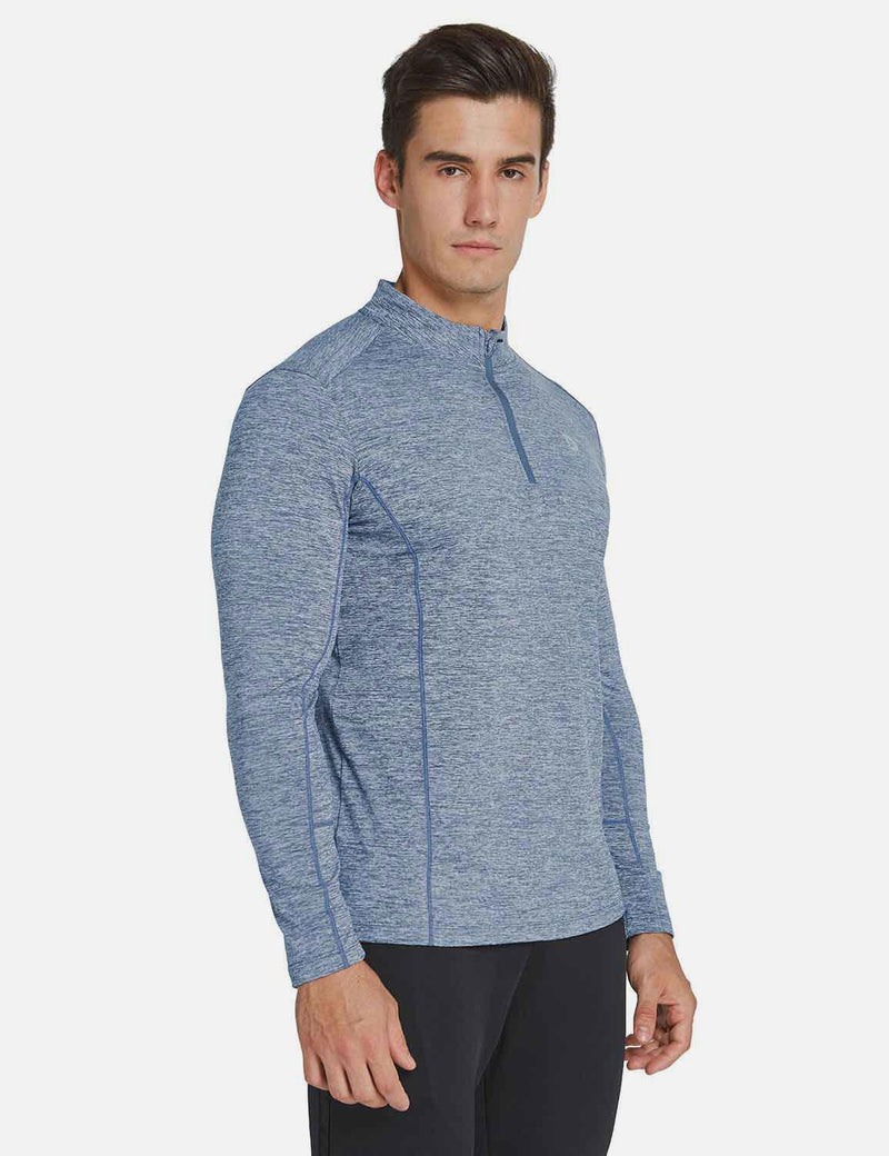 Fleece 1/4 Zipper Thermal Long Sleeved Shirt