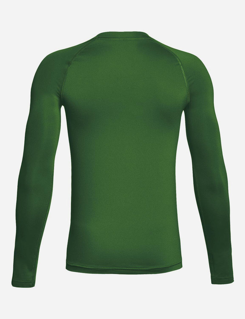Baleaf Boy's Compression Athletic T Shirt Long Sleeved Baselayer Army Green back