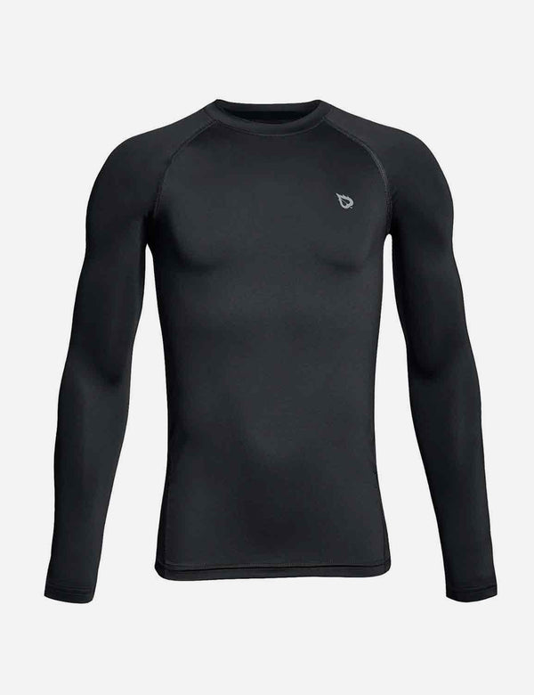 Boy's Compression Athletic T Shirt Long Sleeved Baselayer
