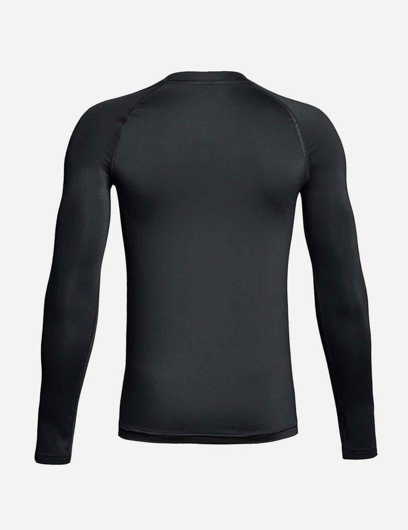 Baleaf Boys' Compression Athletic T Shirt Long Sleeve Baselayer black back