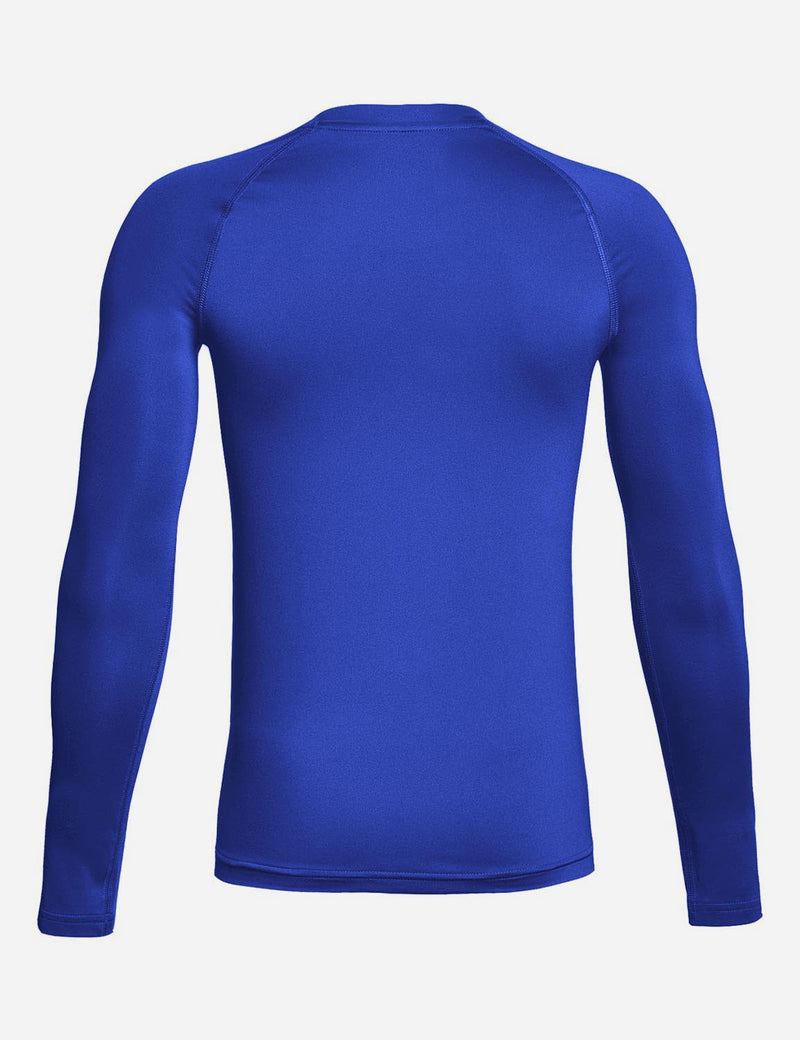 Baleaf Boy's Compression Athletic T Shirt Long Sleeved Baselayer Royal Blue back
