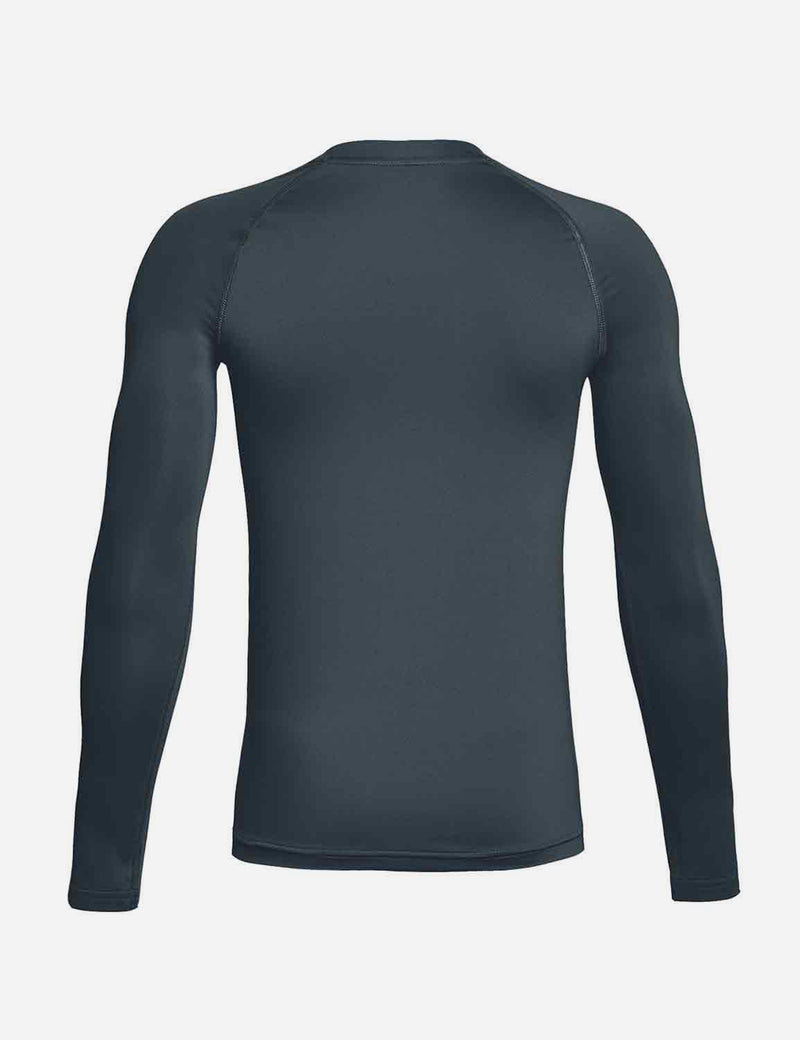 Baleaf Boys' Compression Athletic T Shirt Long Sleeve Baselayer grey back