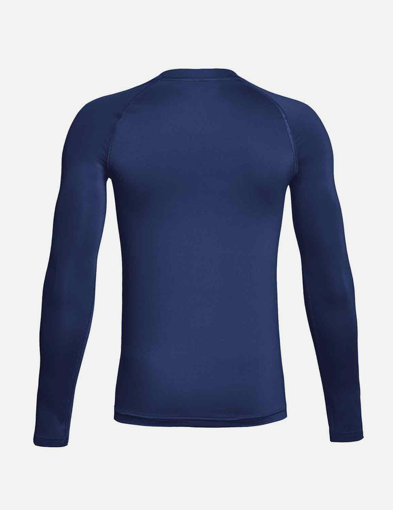 Baleaf Boys' Compression Athletic T Shirt Long Sleeve Baselayer navy back