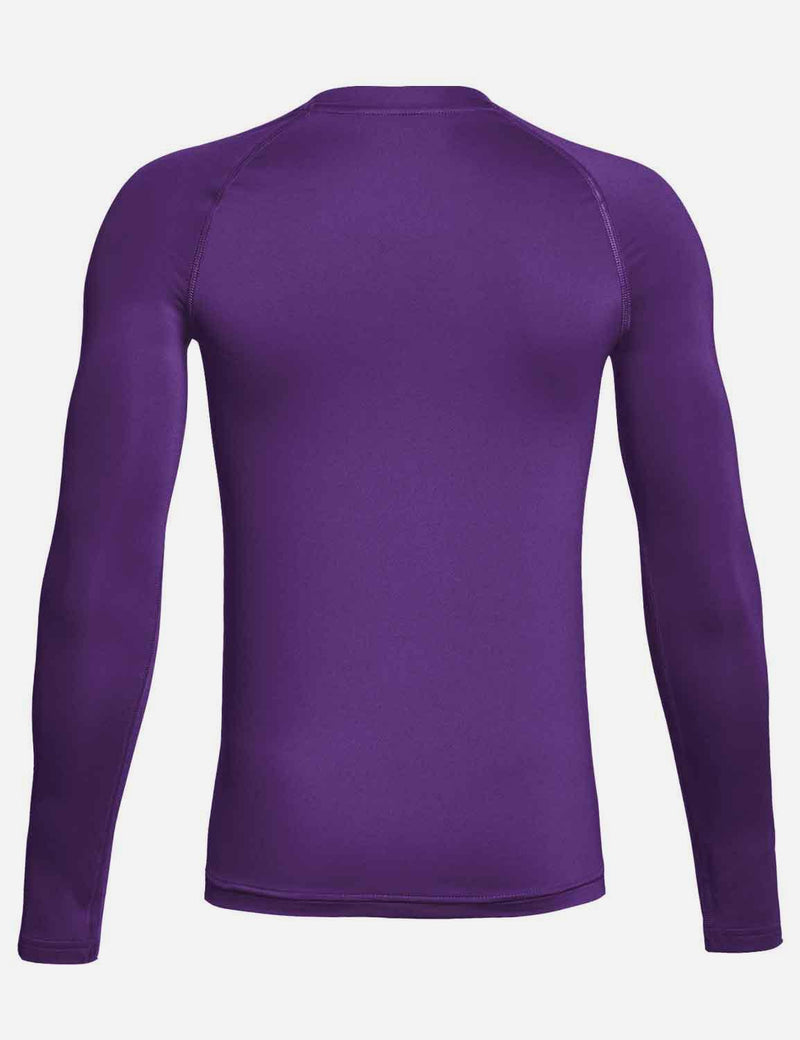 Baleaf Boy's Compression Athletic T Shirt Long Sleeved Baselayer Purple Back