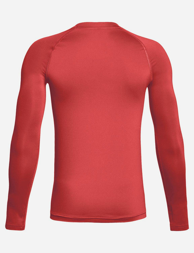 Baleaf Boy's Compression Athletic T Shirt Long Sleeved Baselayer Red back