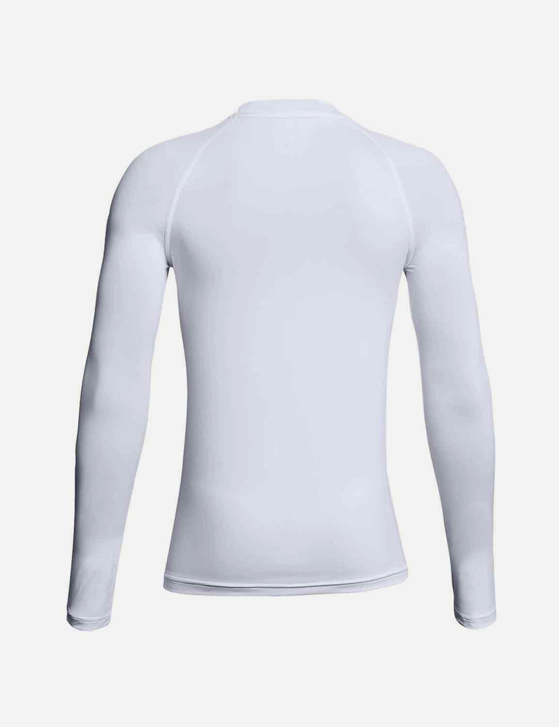 Baleaf Boys' Compression Athletic T Shirt Long Sleeve Baselayer white back
