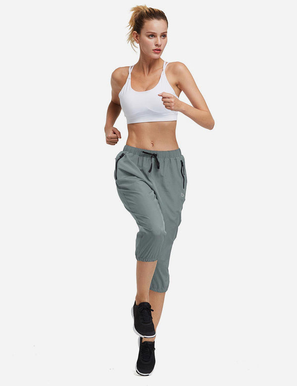 UPF50+ Mid Rise Bohemian Style Tapered Capris