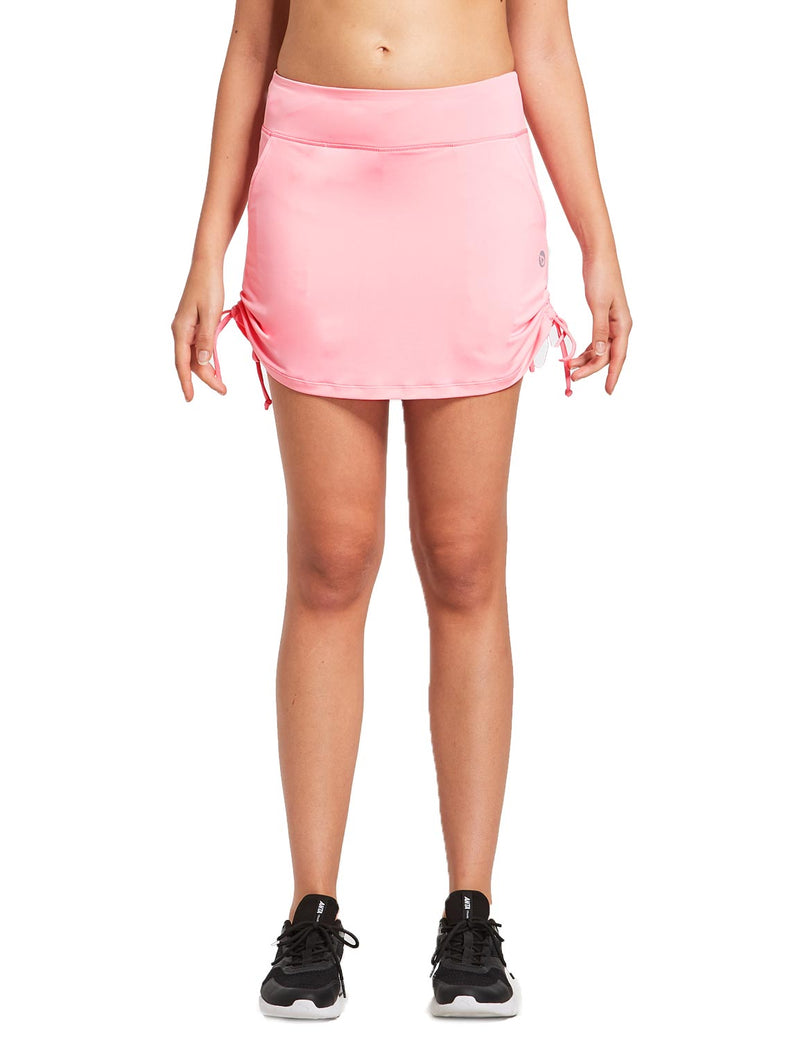 Baleaf Womens 2-in-1 Athletics Skort w Drawcord & Elsastic Waistband Light Pink front