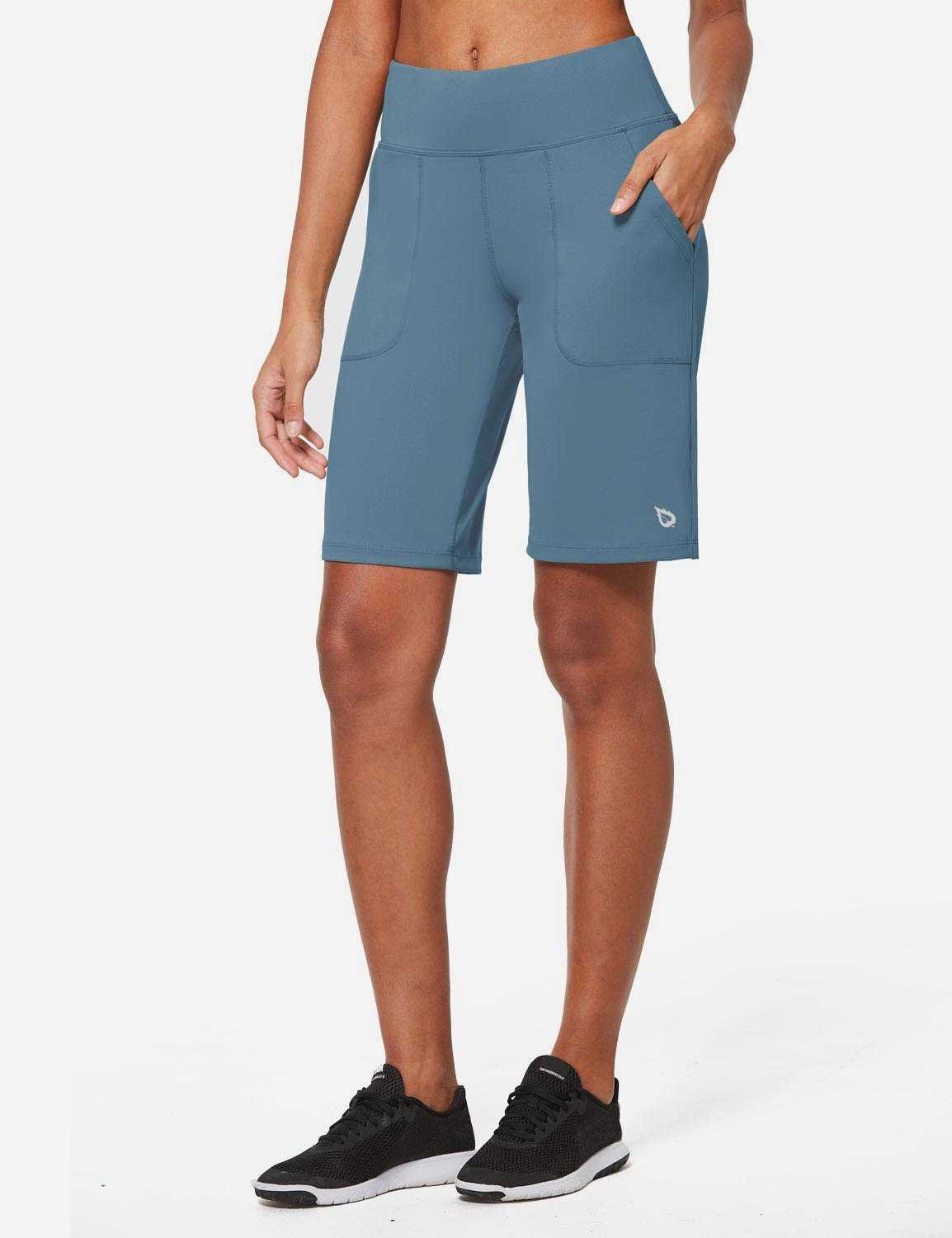 Baleaf Womens Mid Rise Tummy Control Pocketed Lounge Bermuda Shorts Baleaf Womens Mid Rise Tummy Control Pocketed Lounge Bermuda Shorts Niagara side