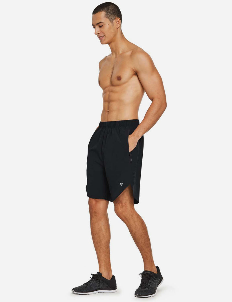 Baleaf Mens UPF 50+ Quick Dry Loose Fit Running & Athletic Shorts Black full