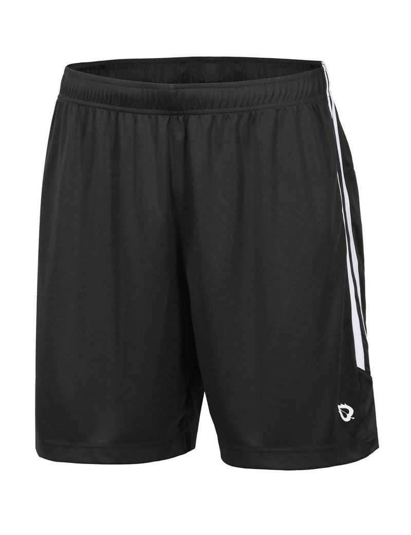 Baleaf Mens (2 Pack) UPF50+  Polyester Outdoor Sports & Workout Shorts Black front
