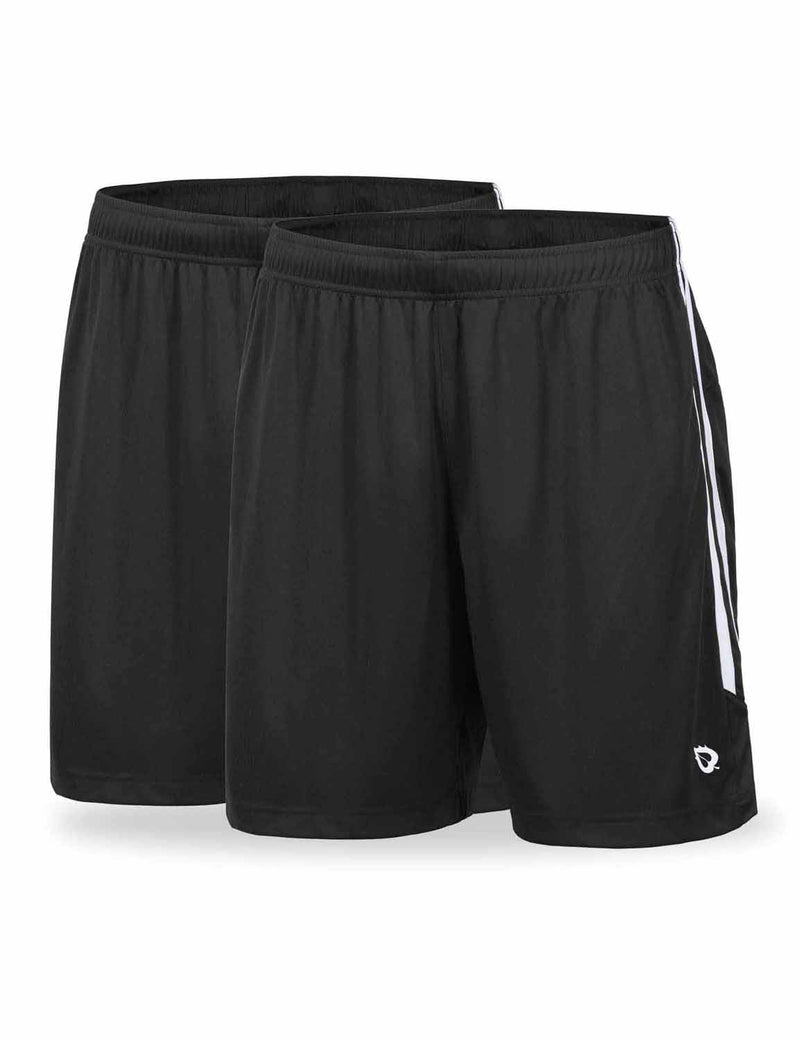 Baleaf Mens (2 Pack) UPF50+  Polyester Outdoor Sports & Workout Shorts Black Black front