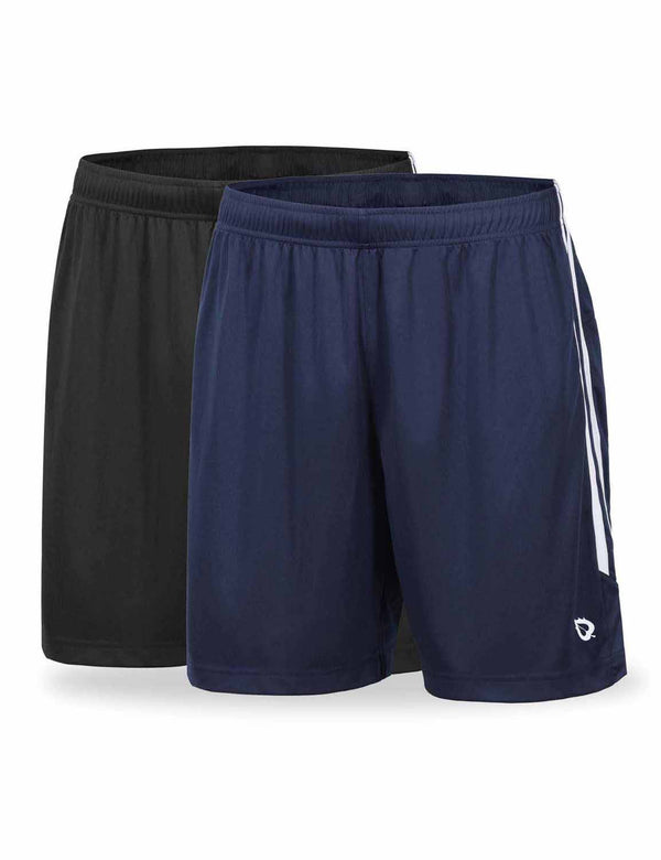 Baleaf Mens (2 Pack) UPF50+  Polyester Outdoor Sports & Workout Shorts Black Navy front