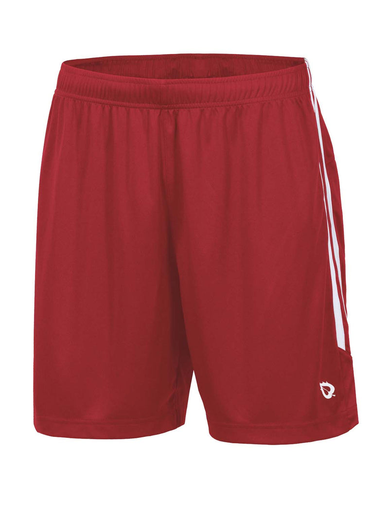 Baleaf Mens (2 Pack) UPF50+  Polyester Outdoor Sports & Workout Shorts Red front