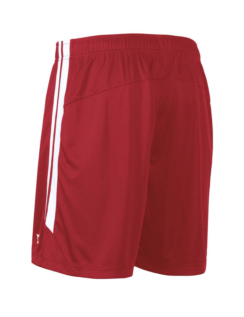 Baleaf Mens (2 Pack) UPF50+  Polyester Outdoor Sports & Workout Shorts Red side