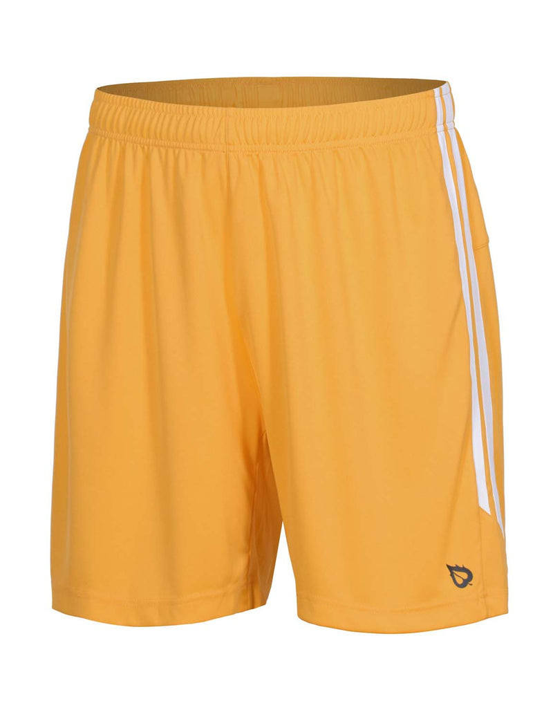 Baleaf Mens (2 Pack) UPF50+  Polyester Outdoor Sports & Workout Shorts Yellow front