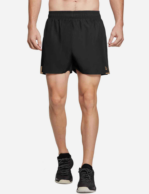 Baleaf Mens 3' 2 in 1 Quick Dry Running Shorts Black front
