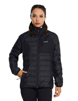 Baleaf womens Ultra Lightweight Full-Zip Warm Quilted Puffer Jacket Winter Coat front
