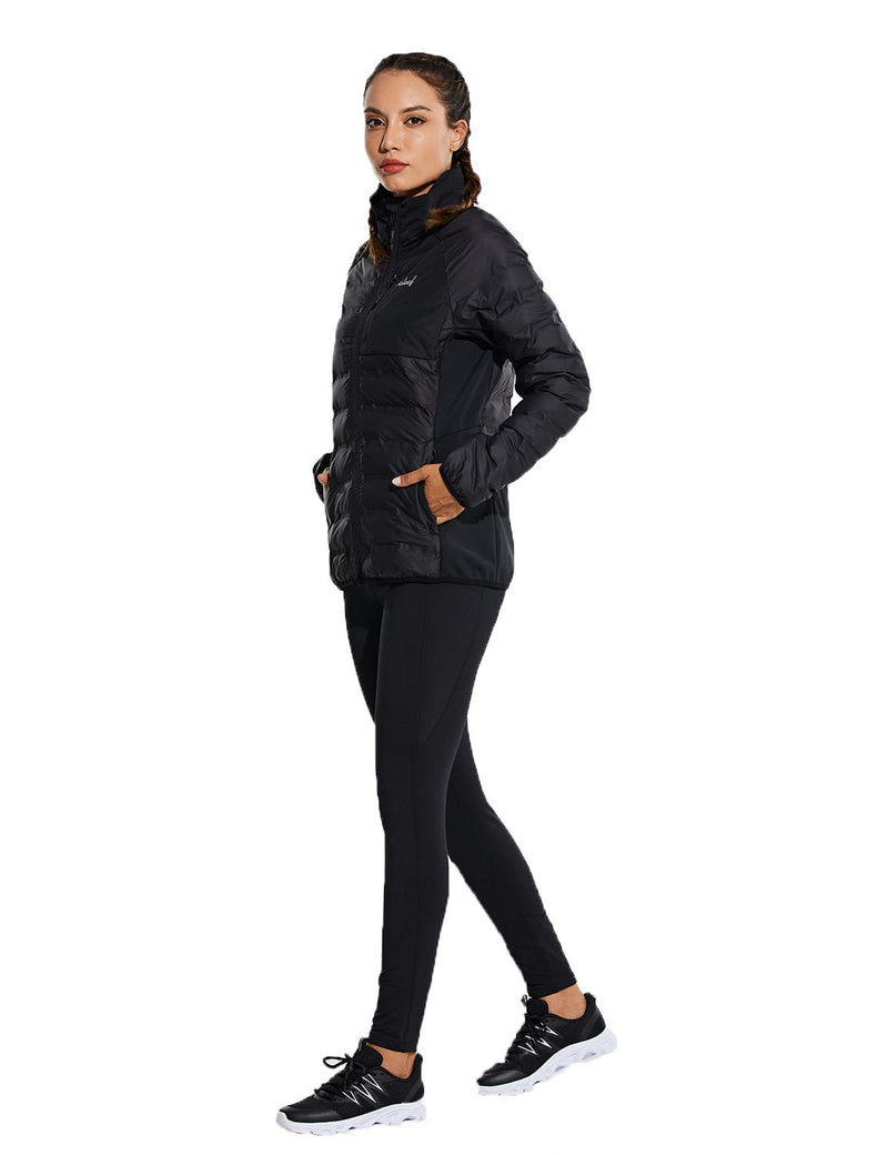Baleaf womens Ultra Lightweight Full-Zip Warm Quilted Puffer Jacket Winter Coat full