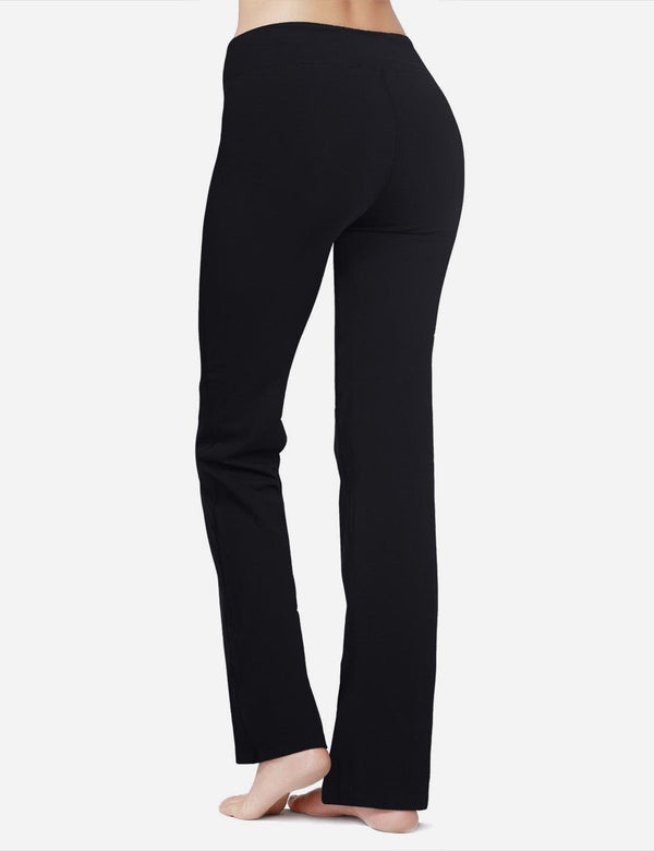 Baleaf Women 30'' Tummy Control Basic Joggers black full