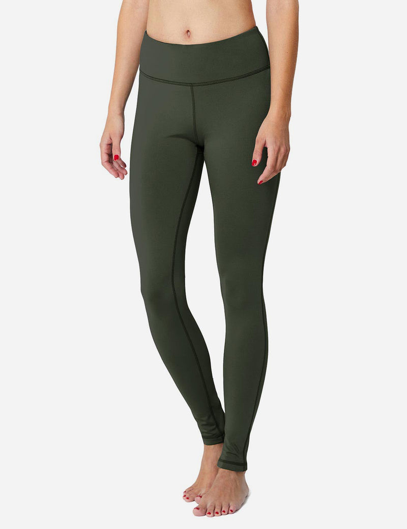 Baleaf Sports High-Rise Fleece Lined Leggings army green Side