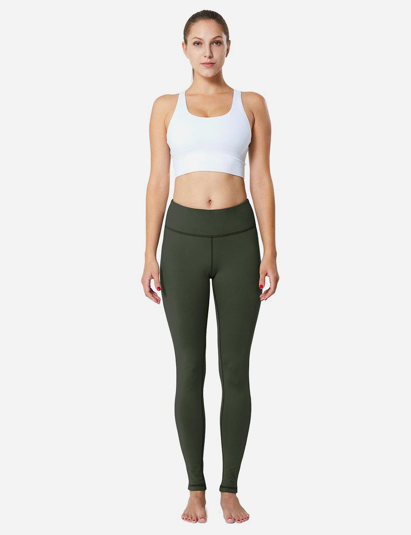 Baleaf Sports High-Rise Fleece Lined Leggings army green full