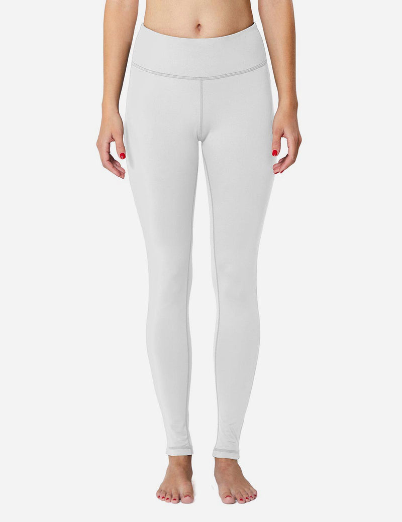 Baleaf Sports High-Rise Fleece Lined Leggings  white front