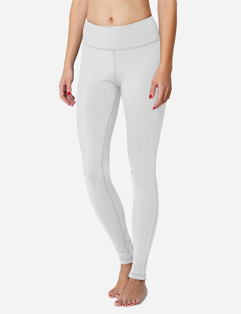 Baleaf Sports High-Rise Fleece Lined Leggings  white Side