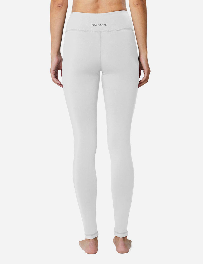 Baleaf Sports High-Rise Fleece Lined Leggings  white back