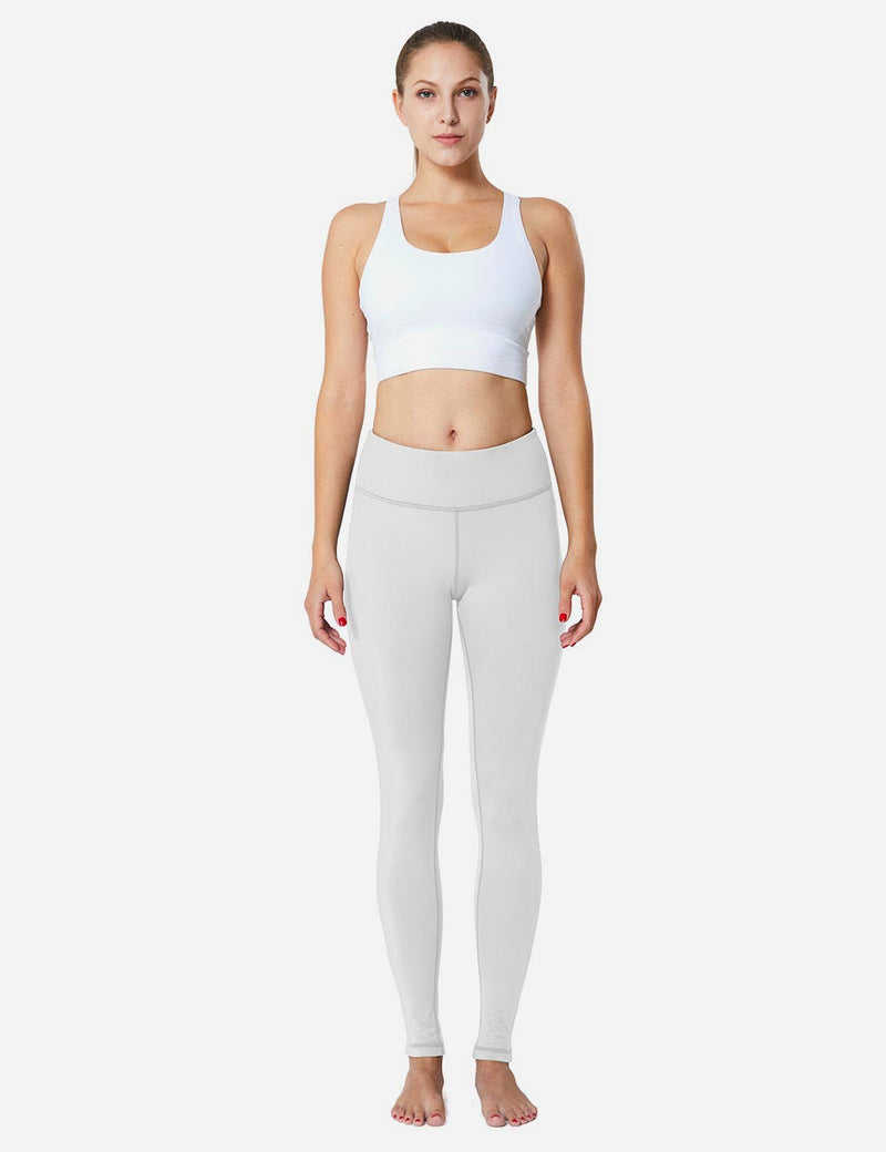 Baleaf Sports High-Rise Fleece Lined Leggings  white full